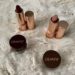 Karruche x Colourpop Eyeliner and lipstick
